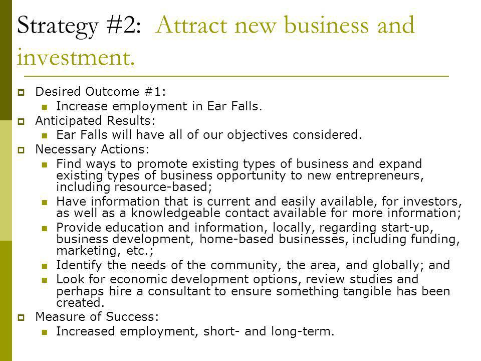 Strategy #2: Attract new business and investment.