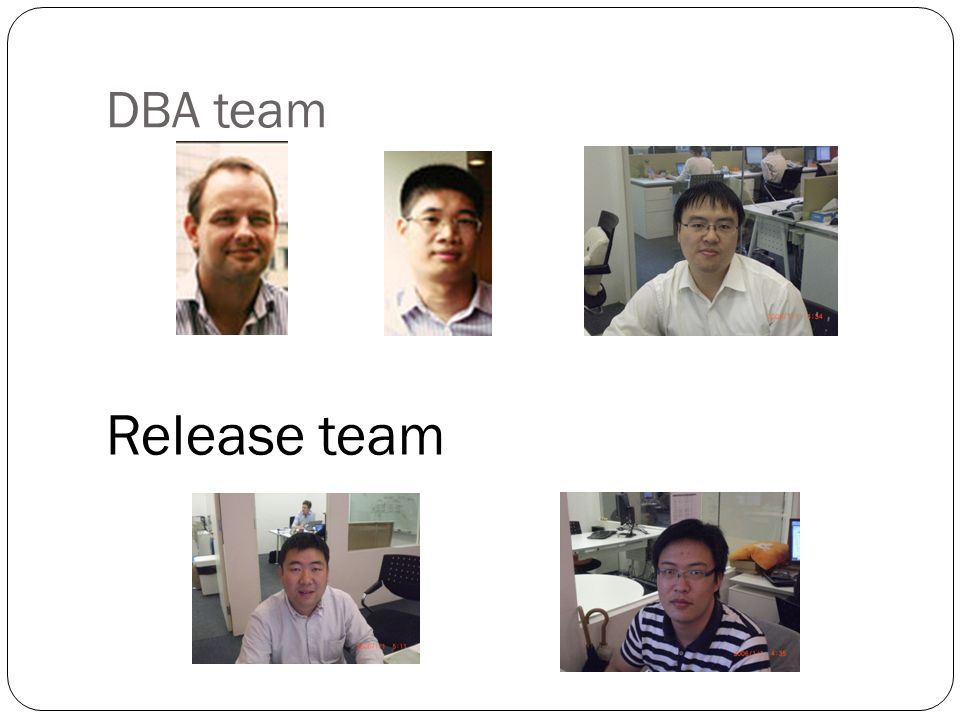 DBA team Release team