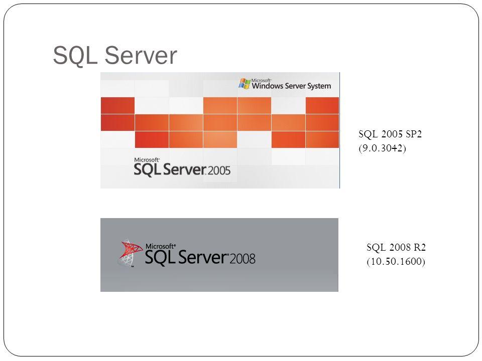 SQL Server SQL 2005 SP2 (9.0.3042) SQL 2008 R2 (10.50.1600)