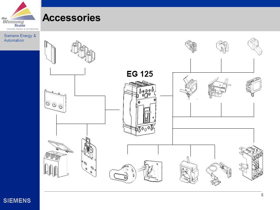 Siemens Energy & Automation SIEMENS 6 Accessories EG 125