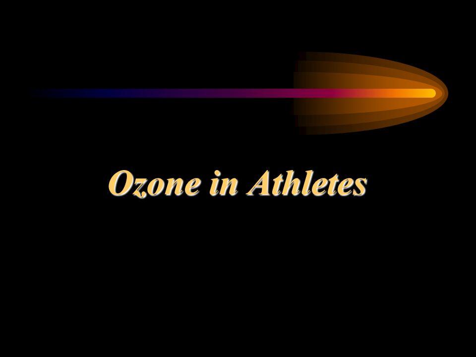 Ozone in Athletes