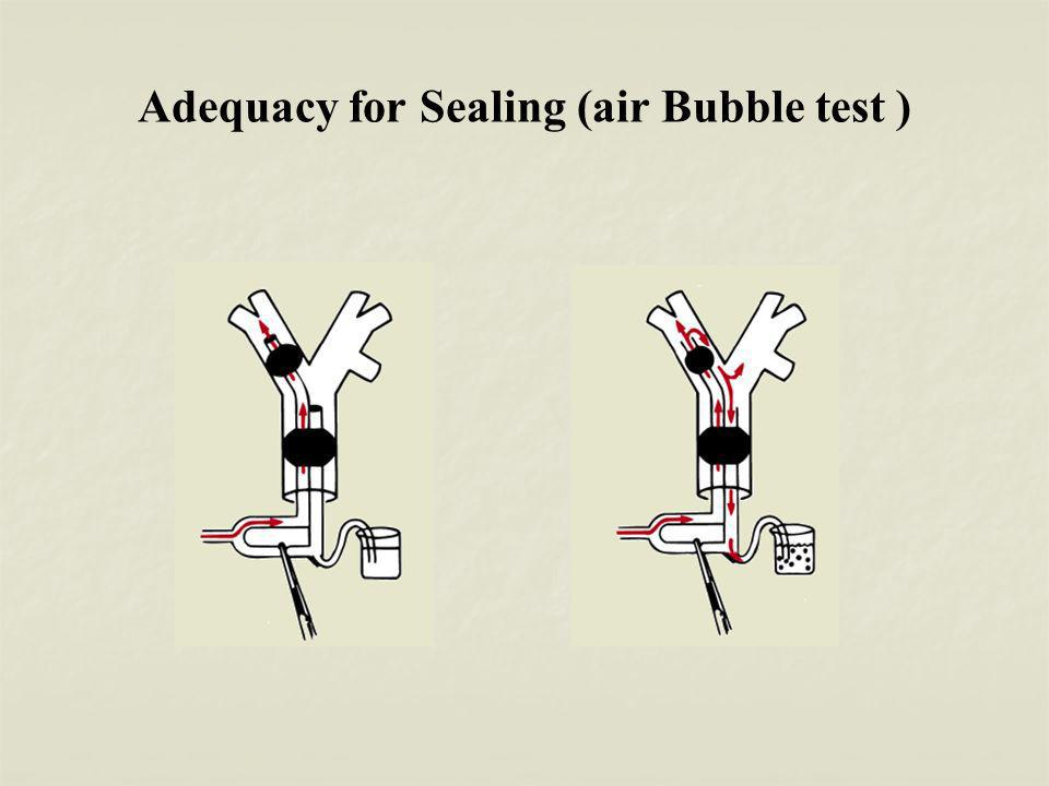 Adequacy for Sealing (air Bubble test )