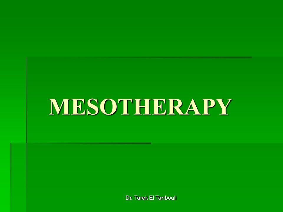 Dr. Tarek El Tanbouli MESOTHERAPY