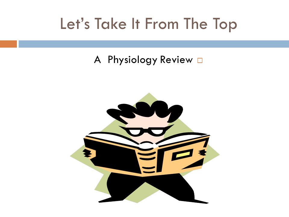 Lets Take It From The Top A Physiology Review