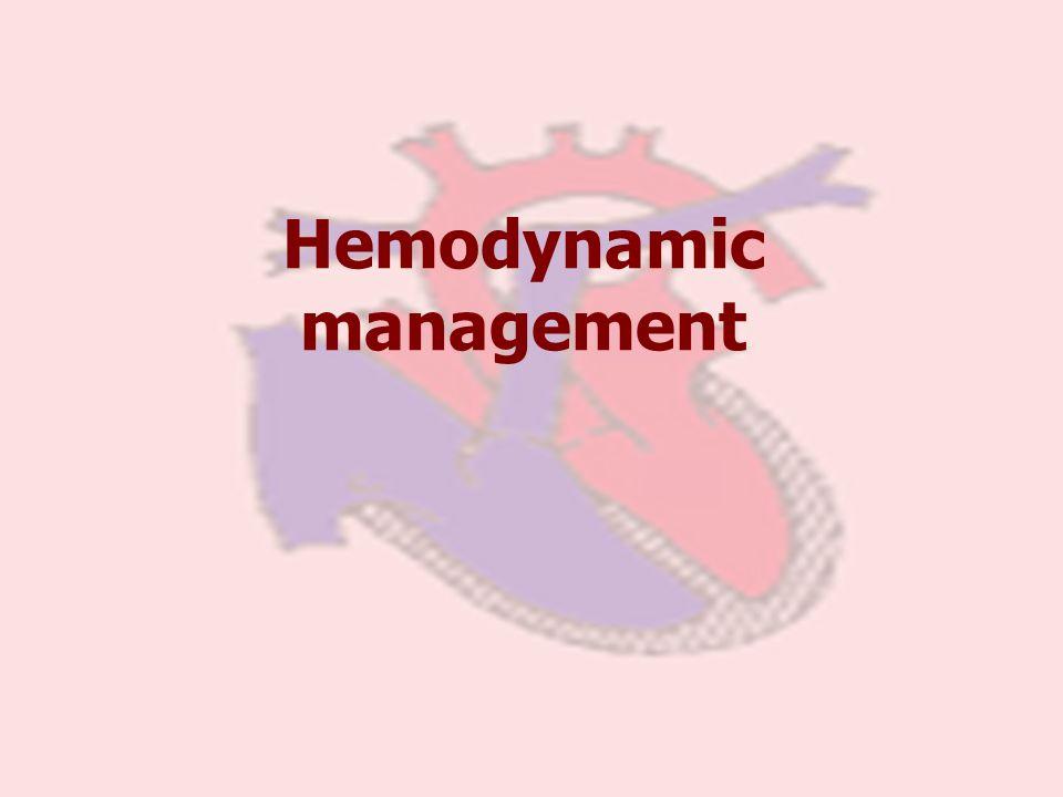 Hemodynamic management