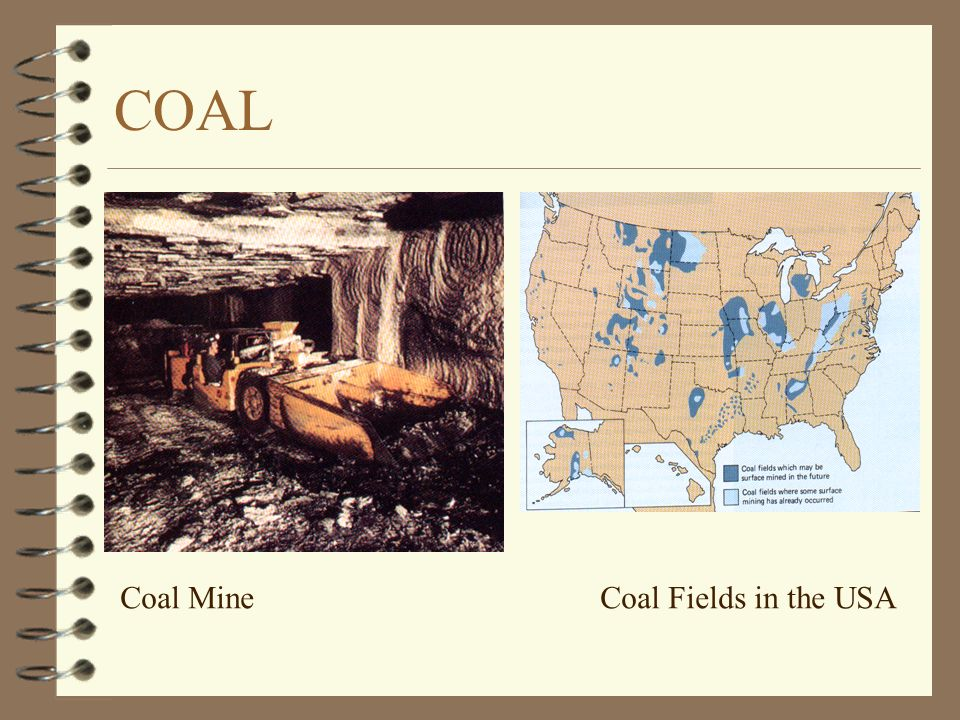 Coal MineCoal Fields in the USA