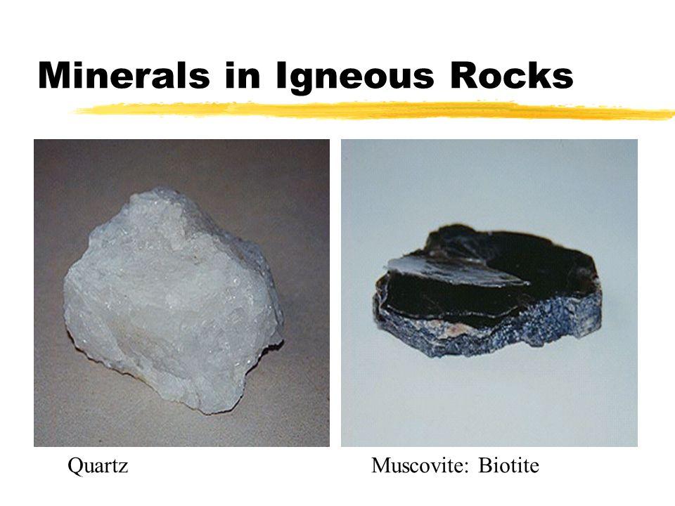 Minerals in Igneous Rocks QuartzMuscovite: Biotite