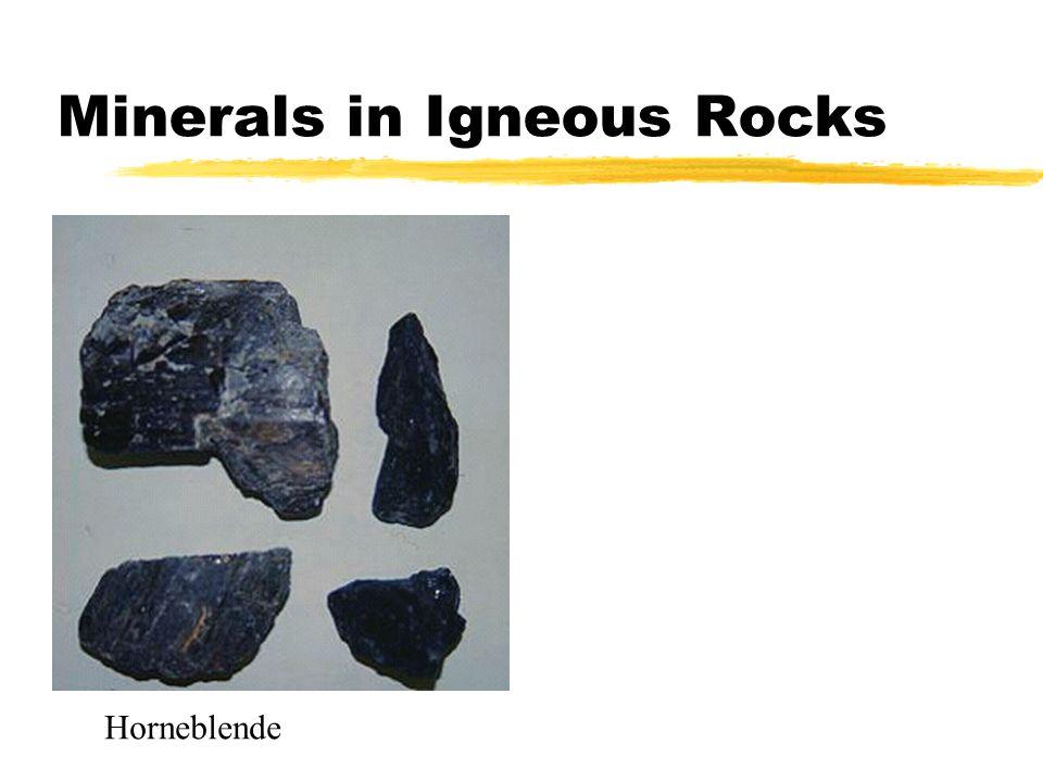 Minerals in Igneous Rocks Horneblende
