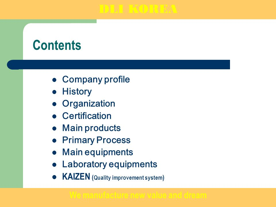 Company Profile DLI Korea is a professional rubber product OEM company that manufactures various rubber products for Autoparts.