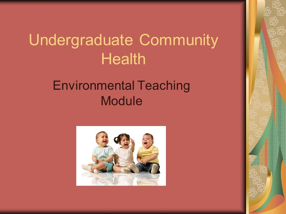 Undergraduate Community Health Environmental Teaching Module