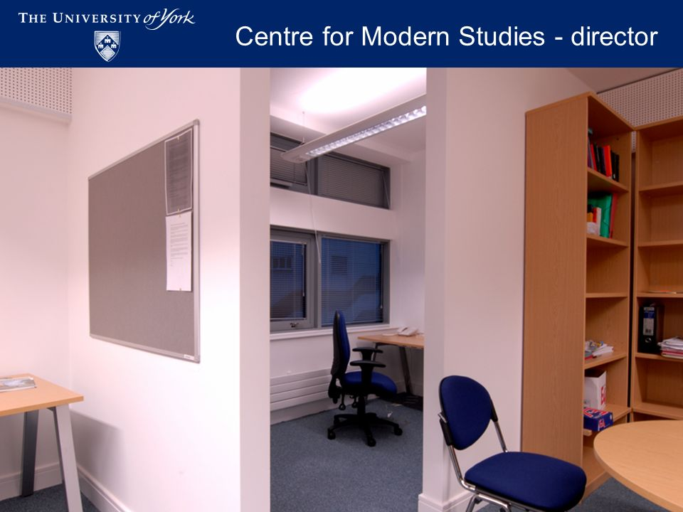 Academic Workspaces - November 2009 Centre for Modern Studies - director