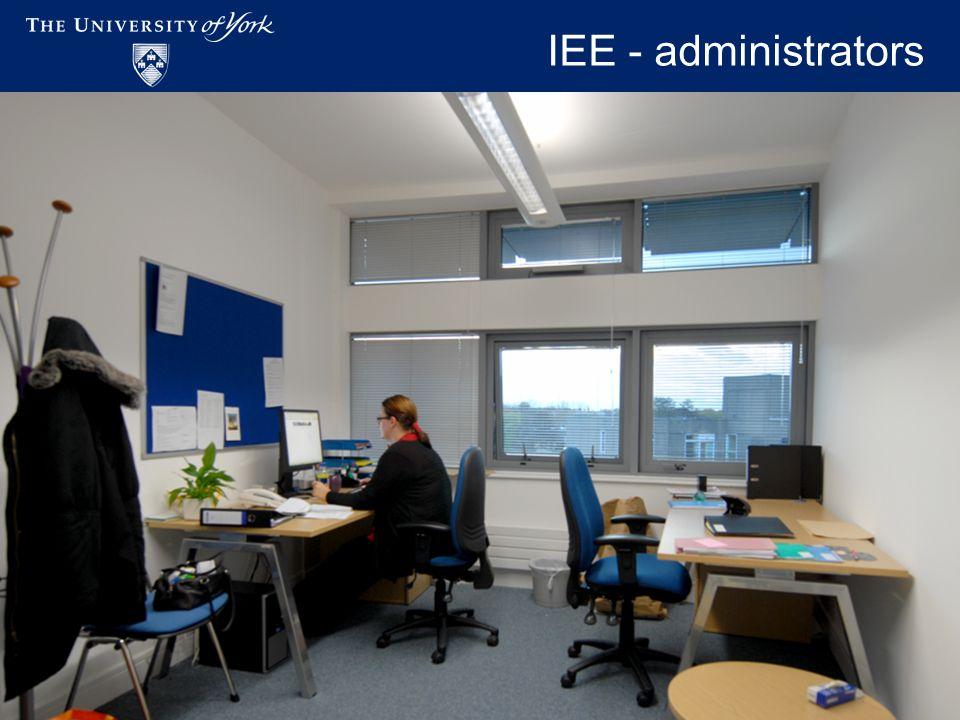 Academic Workspaces - November 2009 IEE - administrators