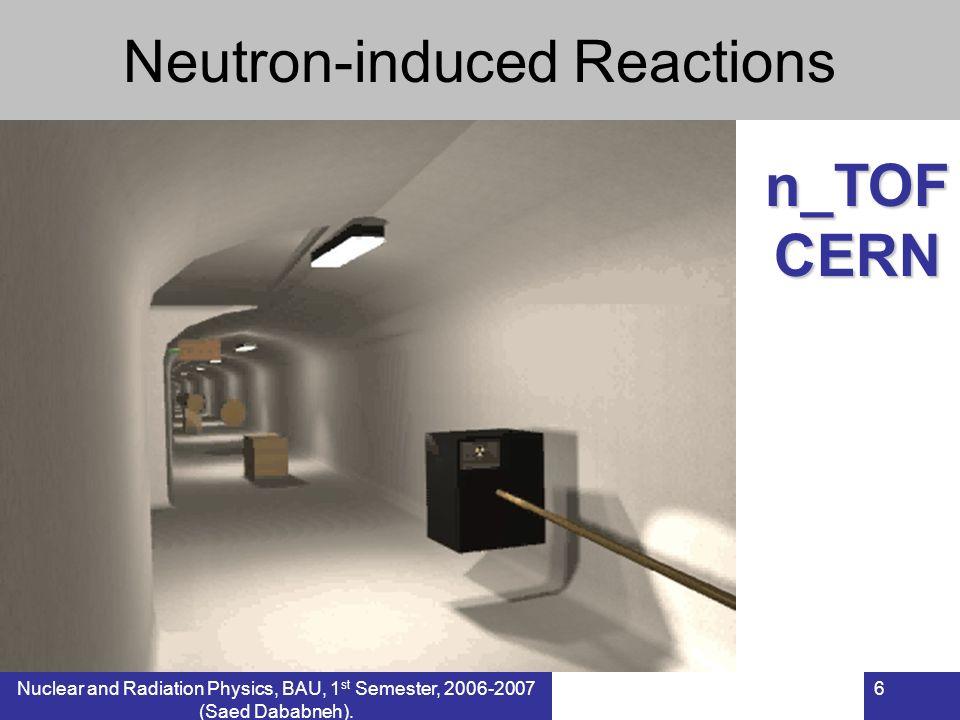 6 Neutron-induced Reactionsn_TOFCERN