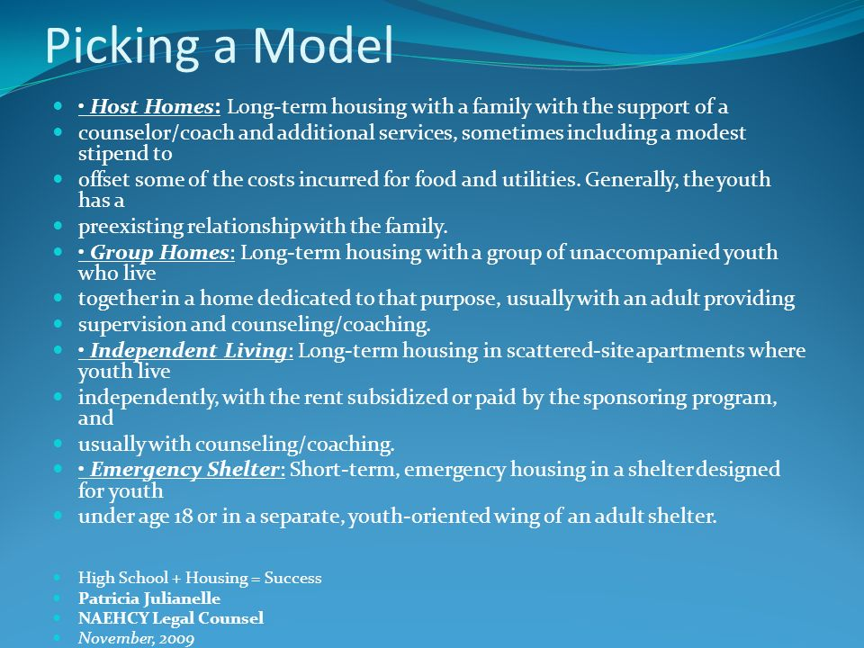 Pick a Service provider, and partners Look for an organization that already serves youth Liability insurance, licensing?.