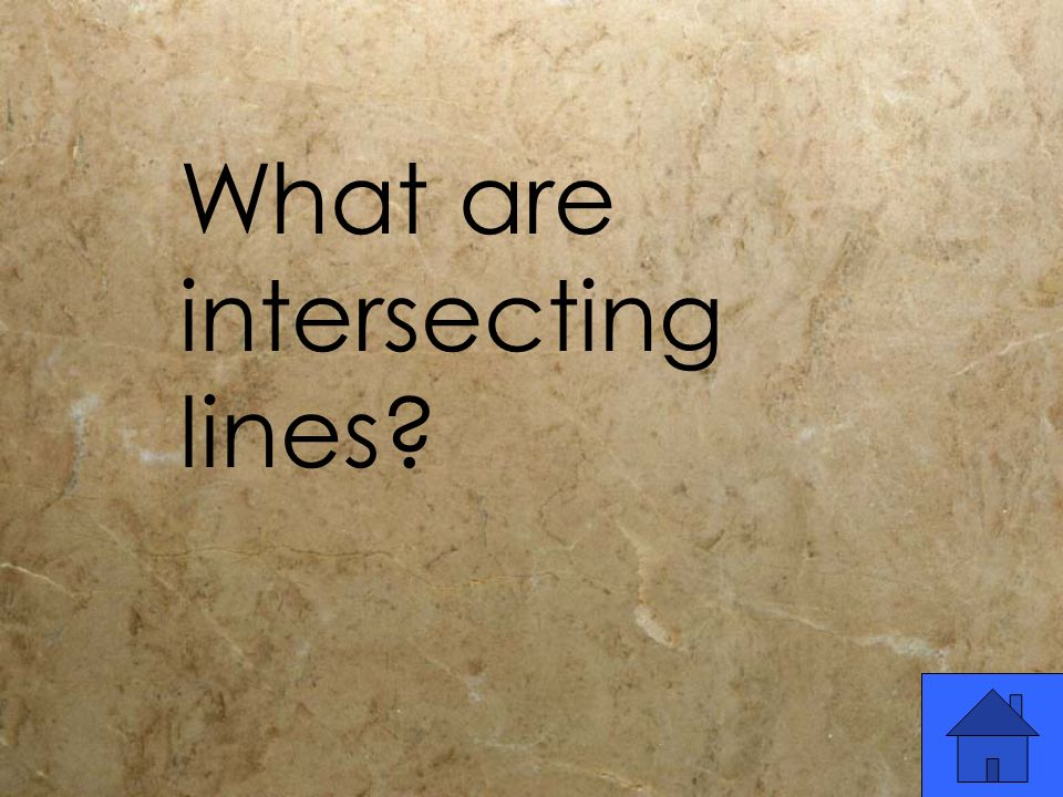 What are intersecting lines?
