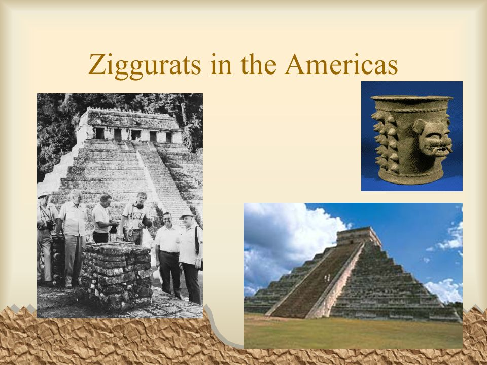 Ziggurats in the Americas
