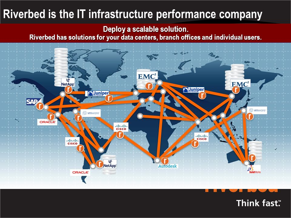 Riverbed is the IT infrastructure performance company Eliminate the effects of distance Eliminate the effects of distance.