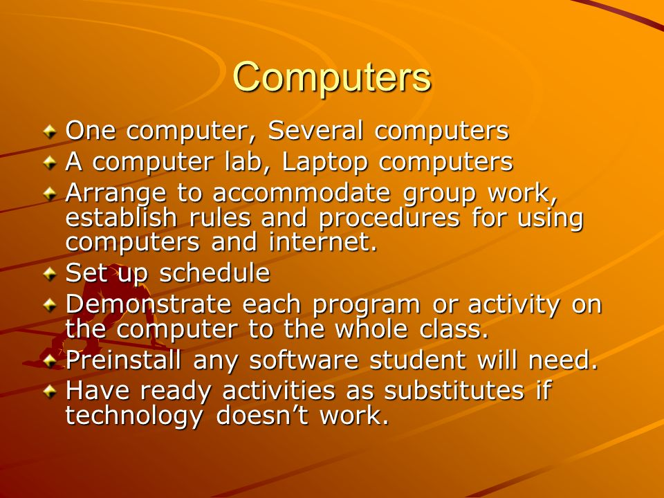 Time Frame 6 – 9 weeks Variables to Consider: Number of computers available Individual skills and reading levels of students Once you begin, it is imp