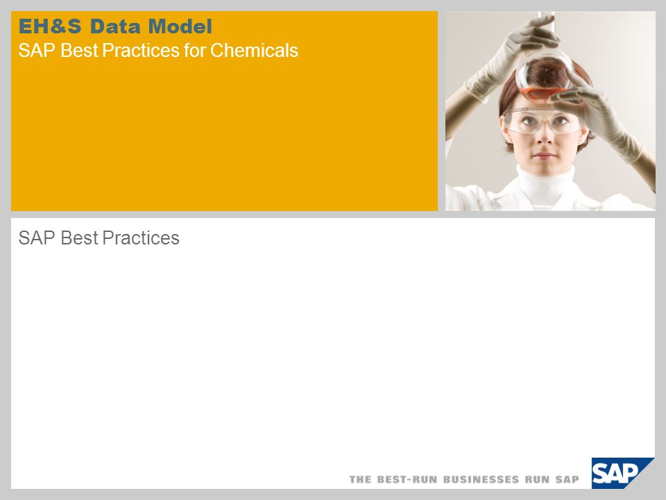 EH&S Data Model SAP Best Practices for Chemicals SAP Best Practices