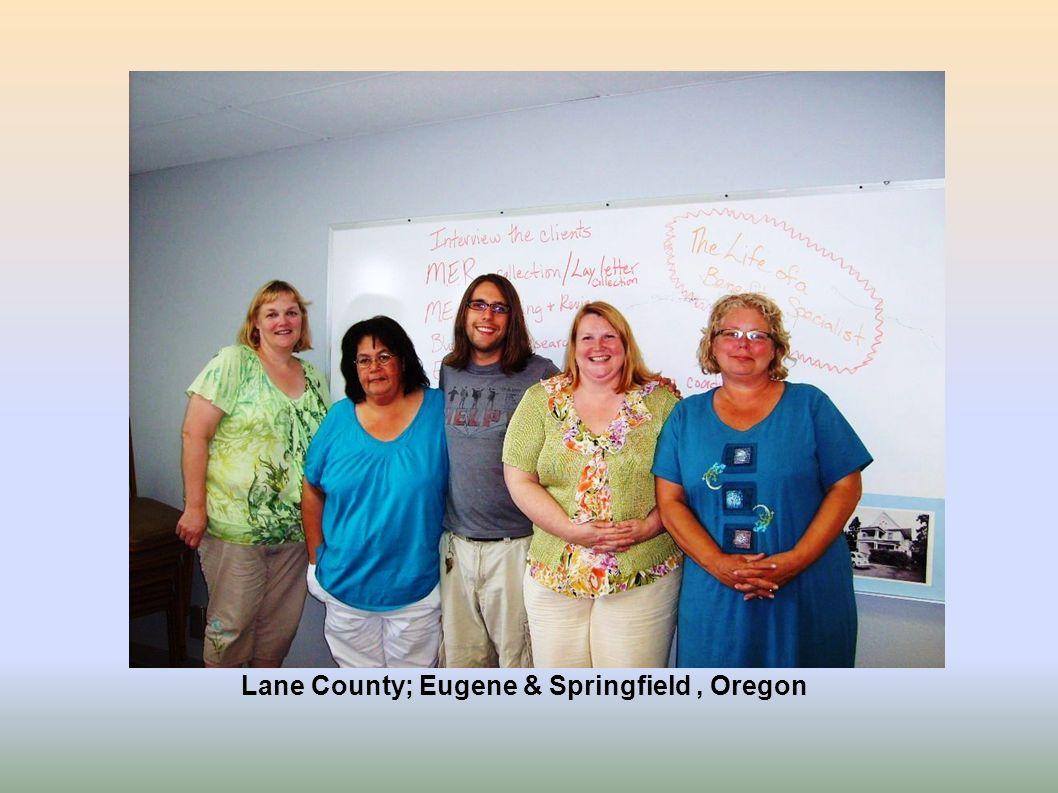 Lane County; Eugene & Springfield, Oregon
