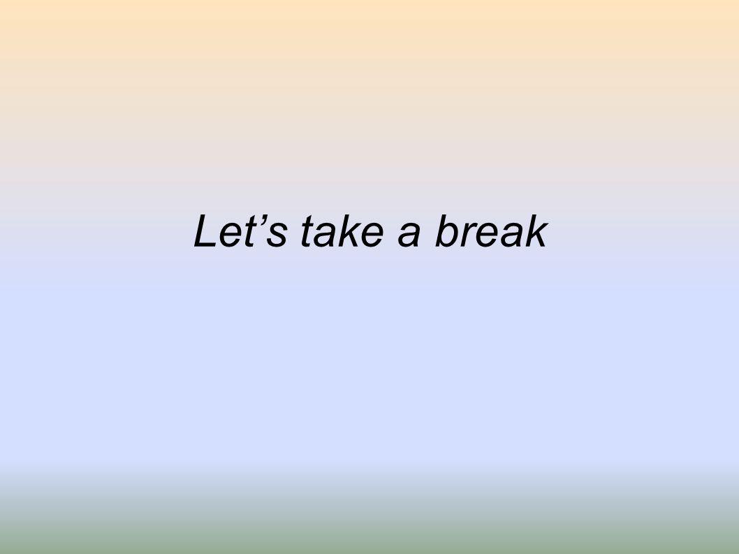 Lets take a break