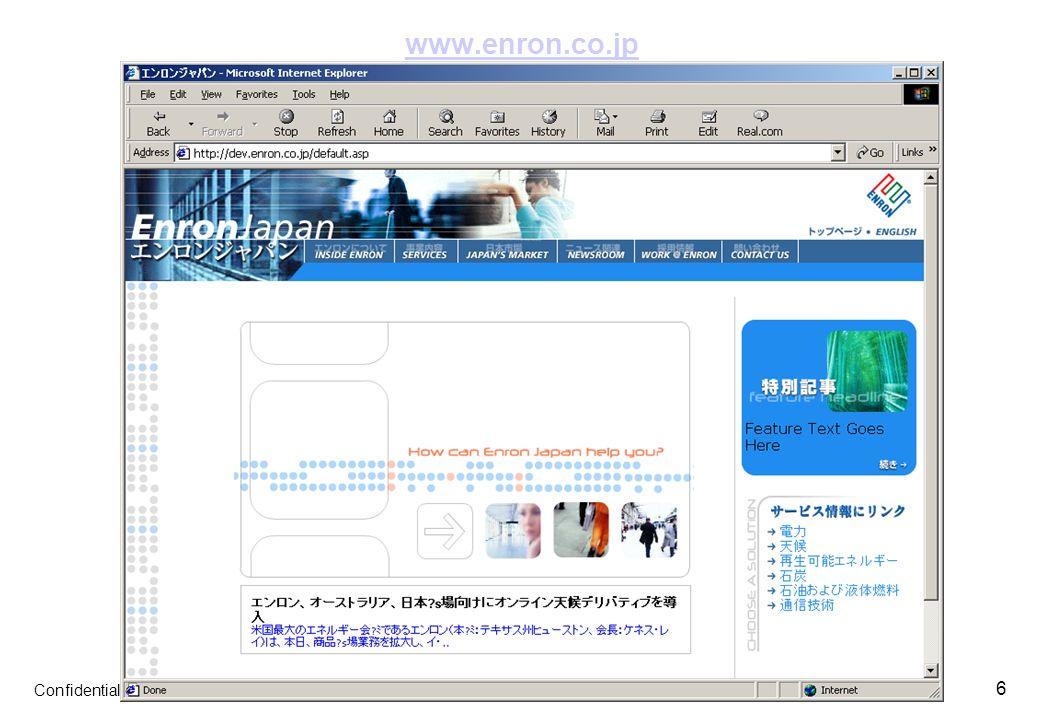 Confidential 6 www.enron.co.jp