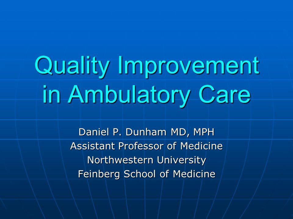 Quality Improvement in Ambulatory Care Daniel P.