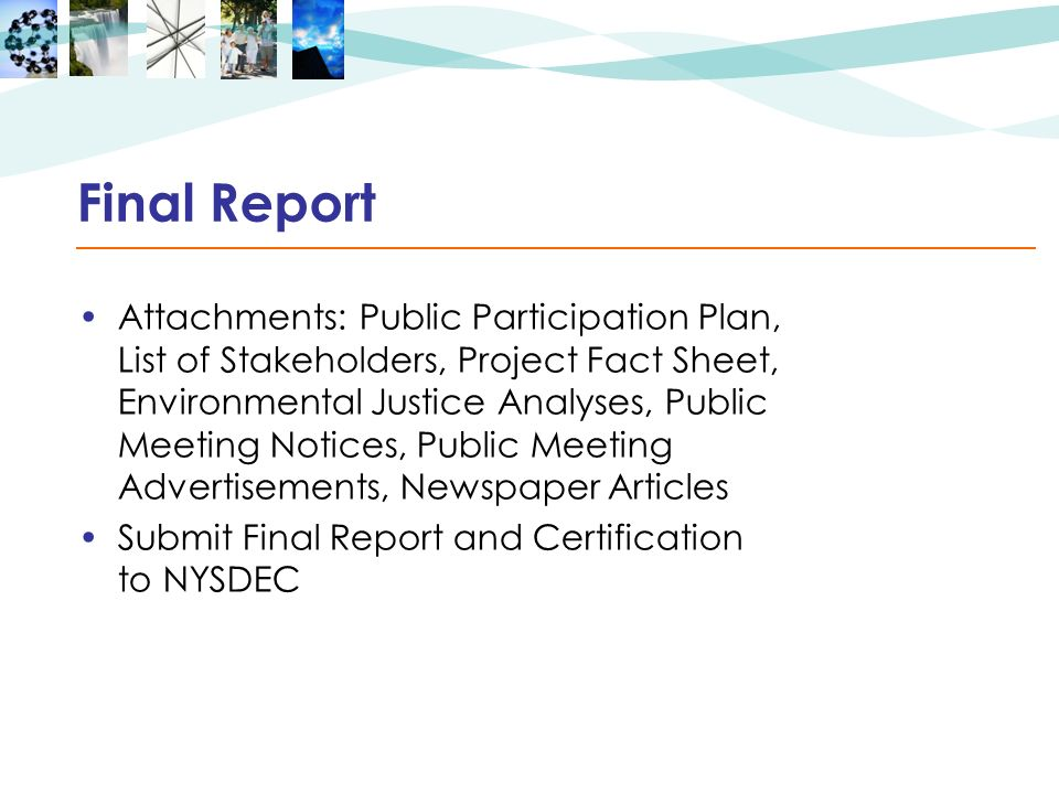 Final Report Attachments: Public Participation Plan, List of Stakeholders, Project Fact Sheet, Environmental Justice Analyses, Public Meeting Notices,