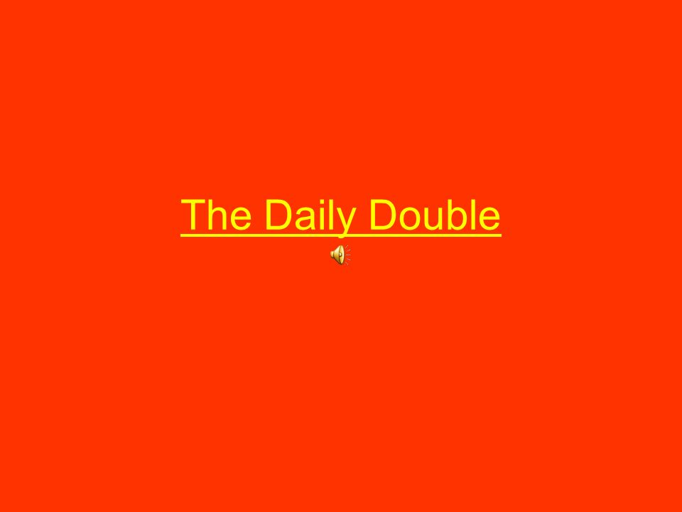 The Daily Double