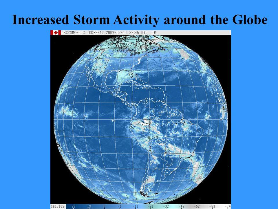 Increased Storm Activity around the Globe