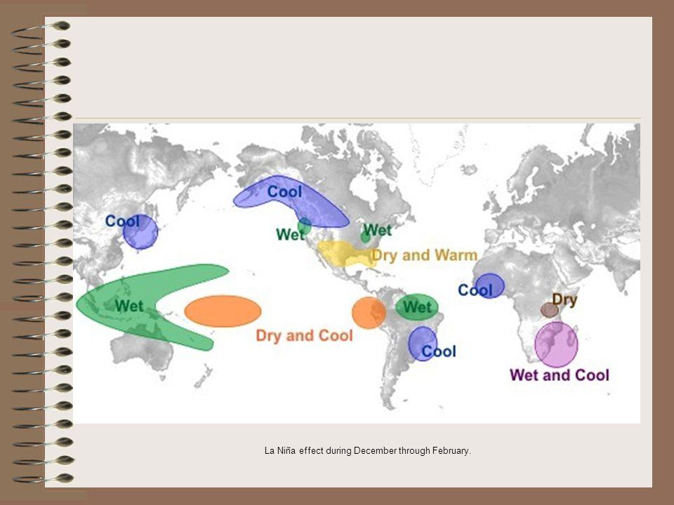 La Niña effect during December through February.