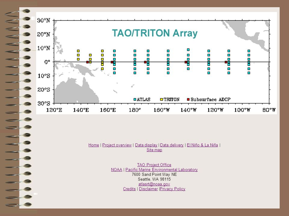 HomeHome | Project overview | Data display | Data delivery | El Niño & La Niña | Site mapProject overviewData displayData deliveryEl Niño & La Niña Si