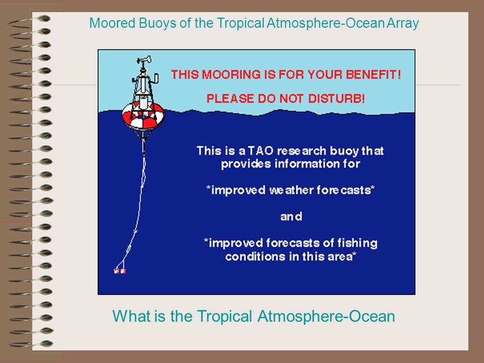 Moored Buoys of the Tropical Atmosphere-Ocean Array What is the Tropical Atmosphere-Ocean