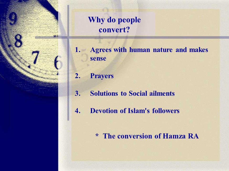 Why do people convert.