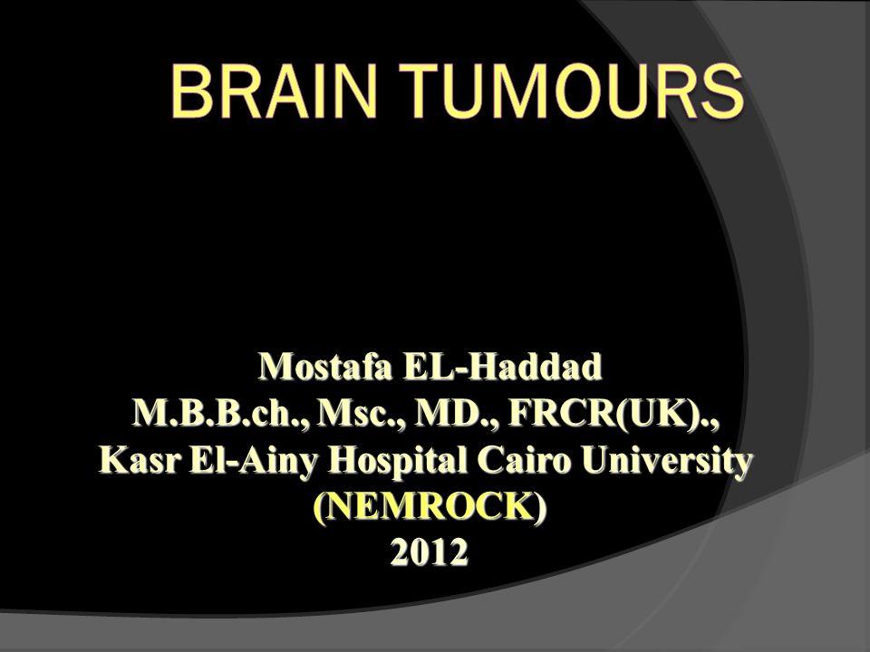 Mostafa EL-Haddad M.B.B.ch., Msc., MD., FRCR(UK)., Kasr El-Ainy Hospital Cairo University (NEMROCK) 2012