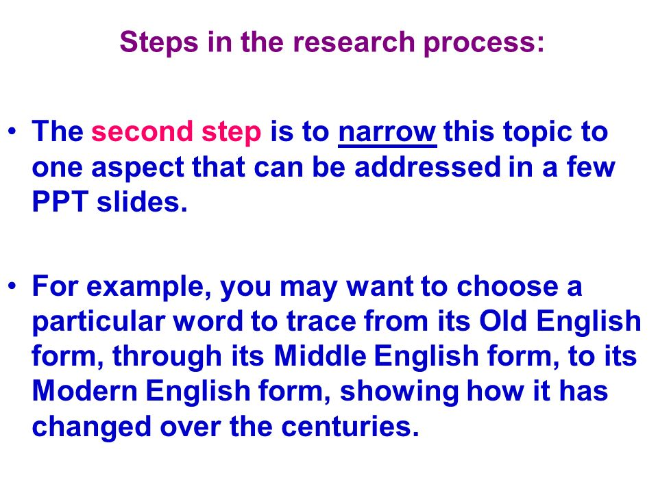 Steps in the research process: USE ONLY ONE SOURCE # PER NOTE CARD!!.