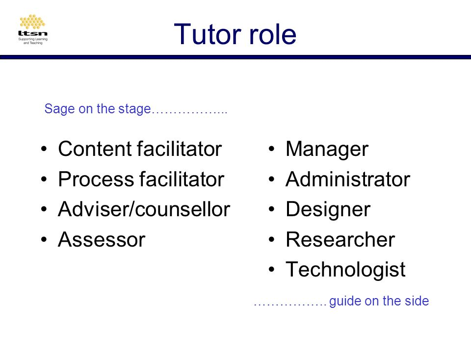 Tutor concerns Changed role Workload Group size Activities Assessment