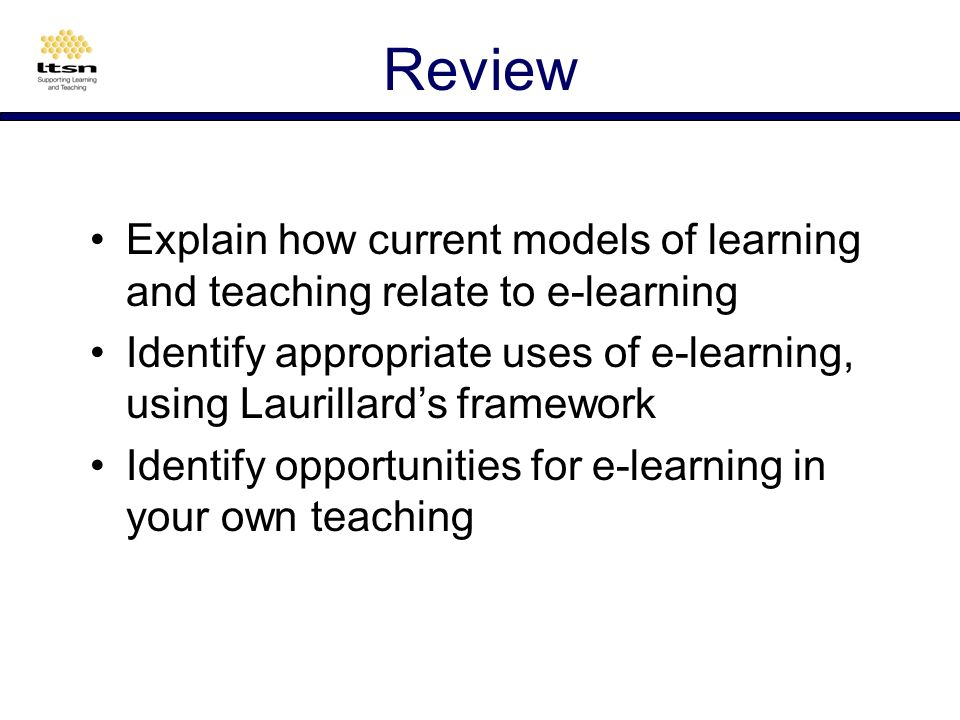 Lessons effective learning requires a variety of processes e-learning cant replace all aspects of learning e-learning is sometimes better than f2f e-learning design needs to be more supportive than f2f