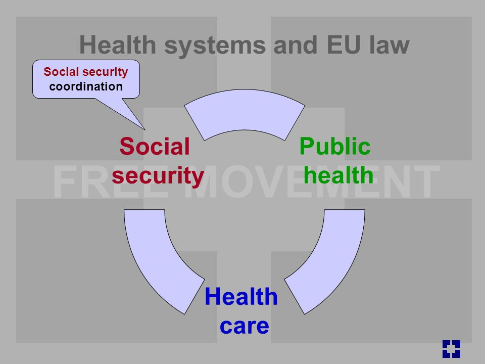 FREE MOVEMENT Health systems and EU law Public health Health care Social security Social security coordination