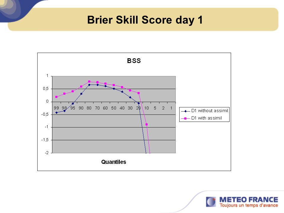 Brier Skill Score day 1