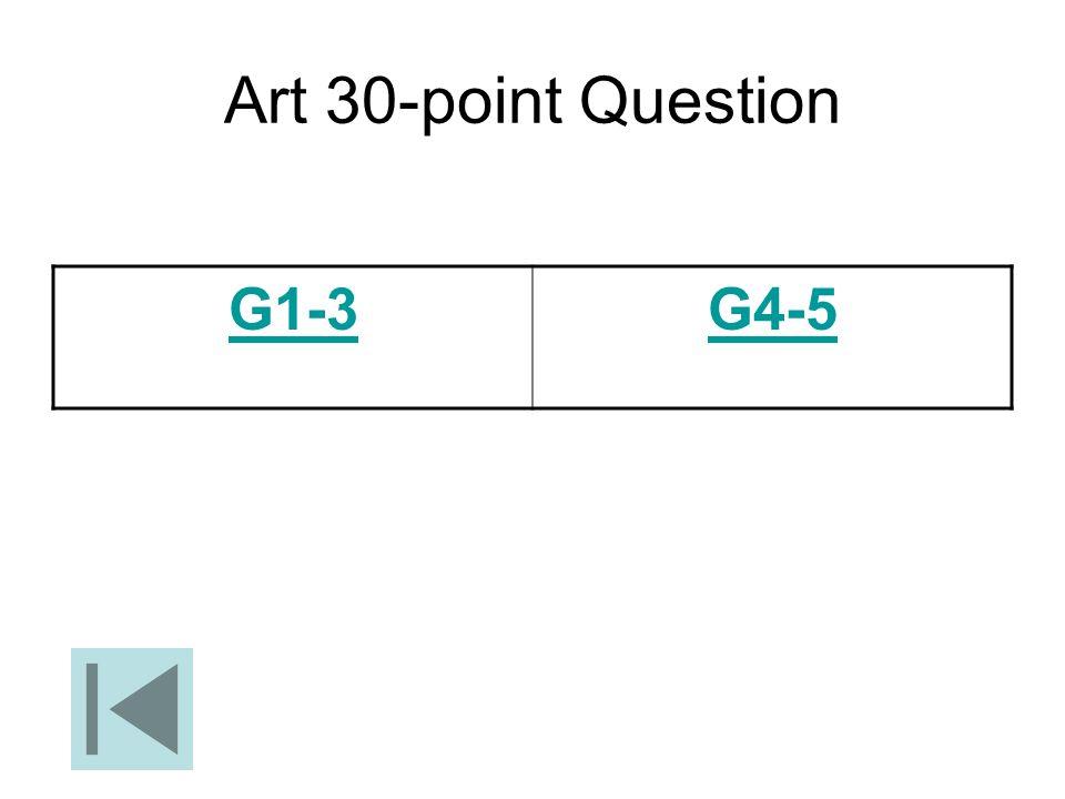 Art 30-point Question G1-3G4-5