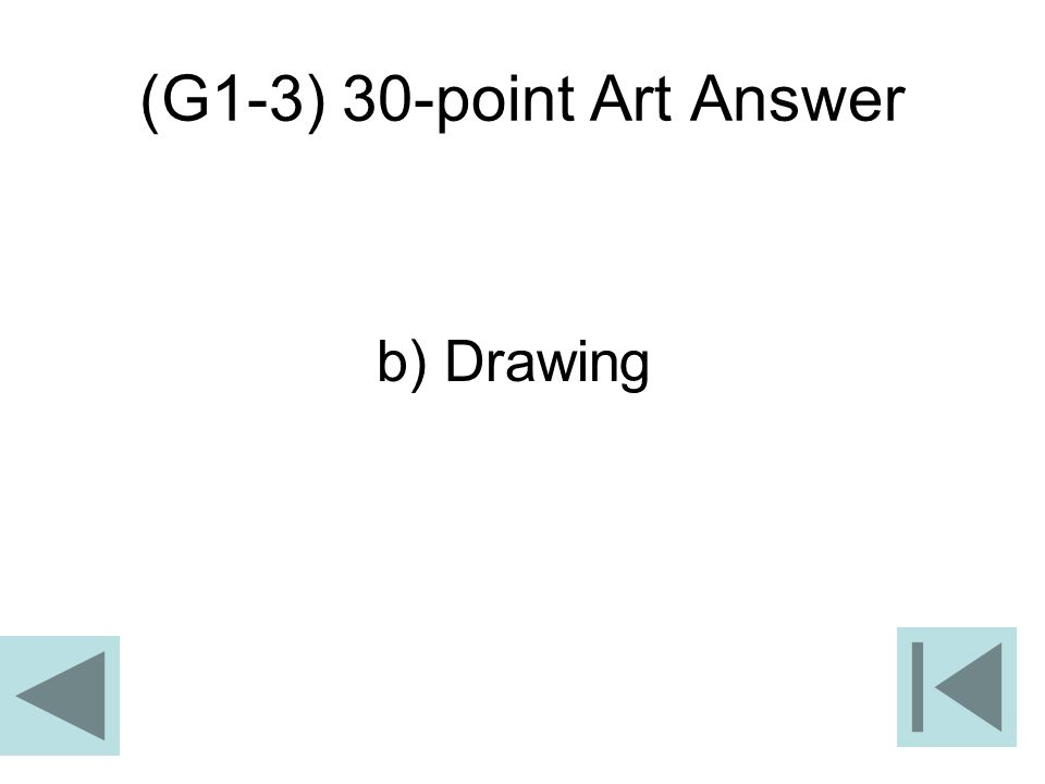 (G1-3) 30-point Art Answer b) Drawing