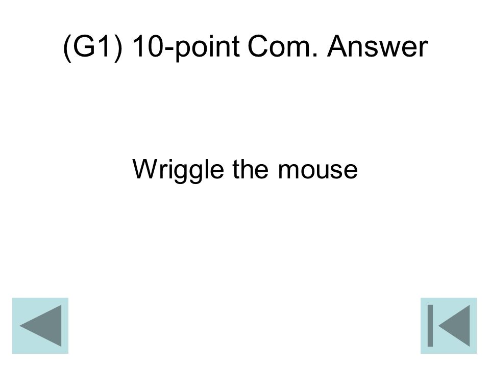 (G1) 10-point Com. Answer Wriggle the mouse