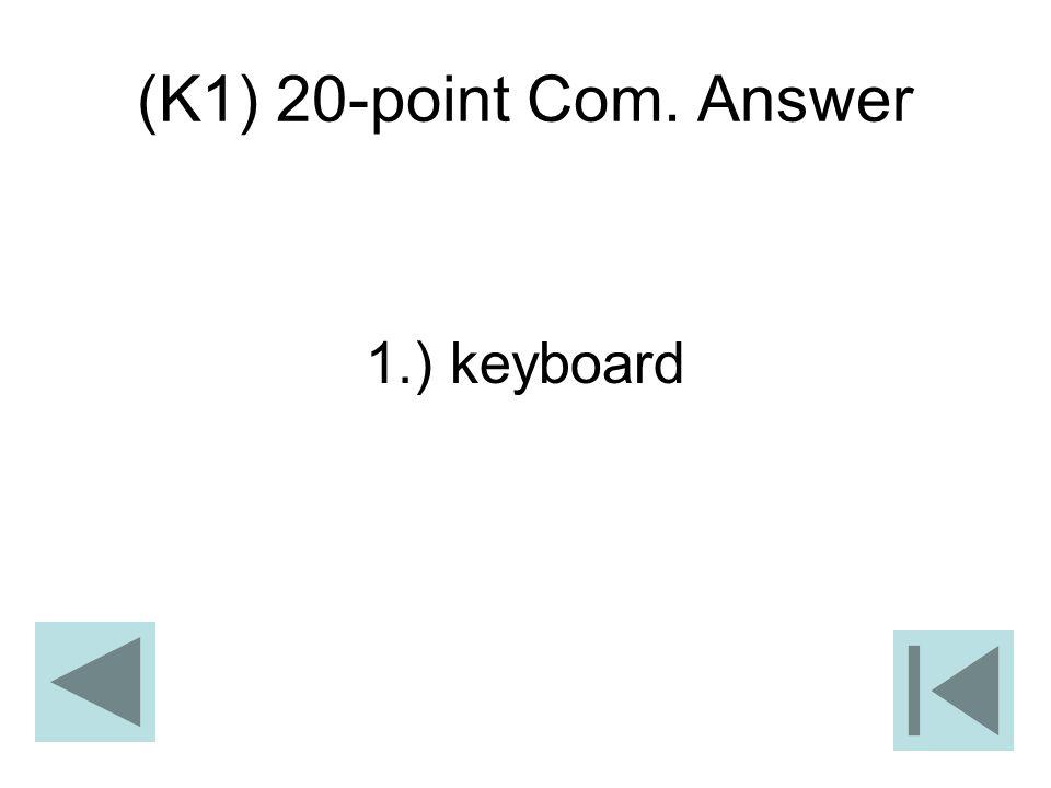(K1) 20-point Com. Answer 1.) keyboard