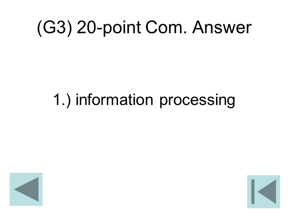 (G3) 20-point Com. Answer 1.) information processing