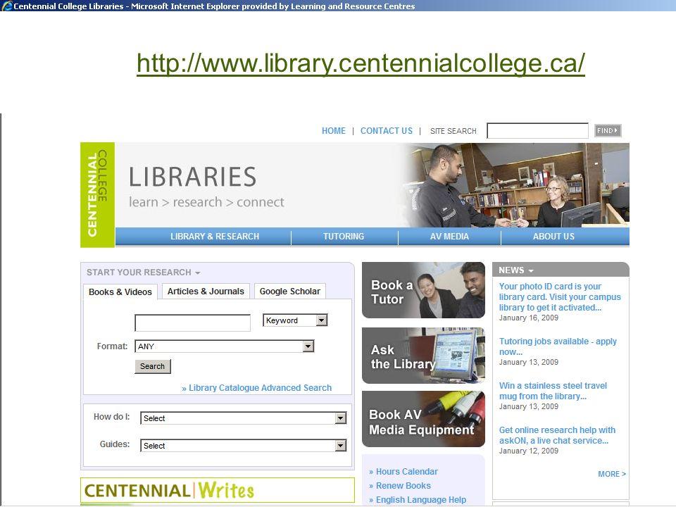 http://www.library.centennialcollege.ca/