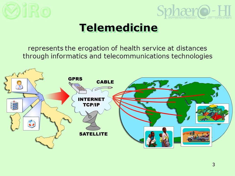 3 TelemedicineTelemedicine represents the erogation of health service at distances through informatics and telecommunications technologies