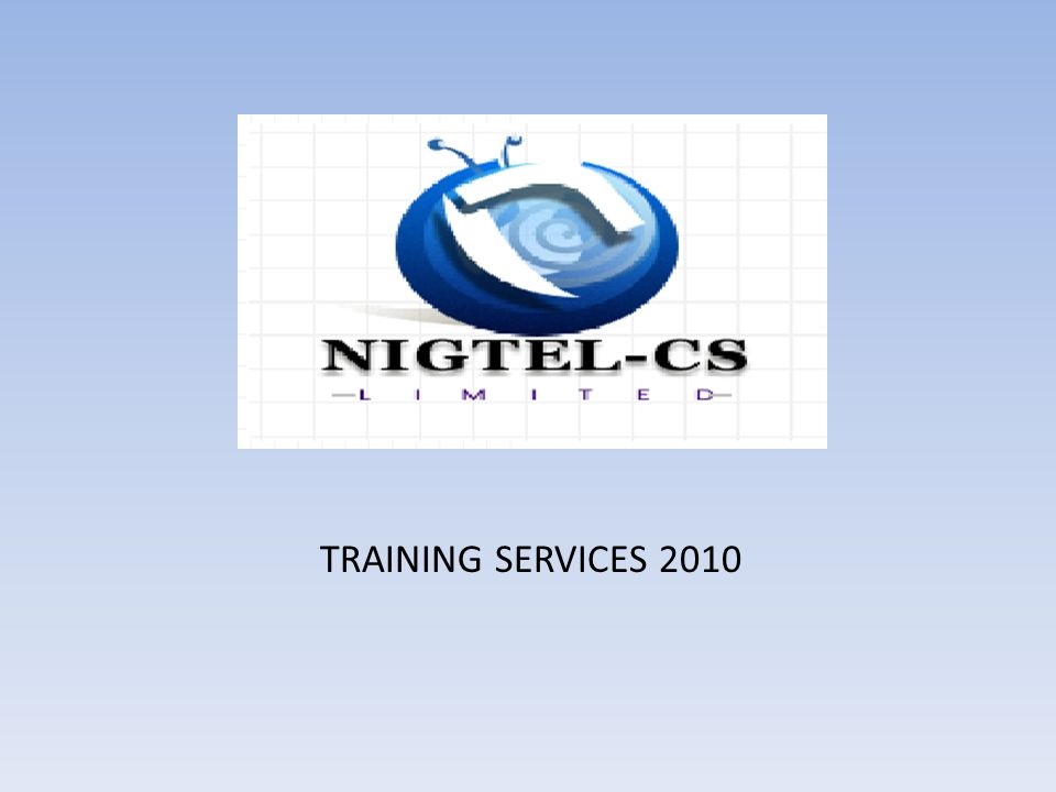 TRAINING SERVICES 2010