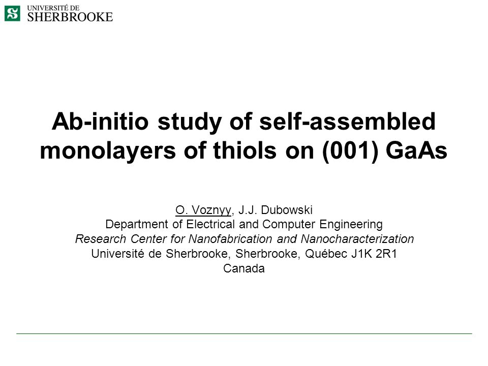 Ab-initio study of self-assembled monolayers of thiols on (001) GaAs O.