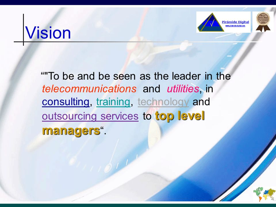 Vision top level managers